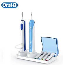 Оригинальная подставка для 1 зарядки + 1 щетки и четырех насадок с крышечкой для зубной щетки Braun Oral-B