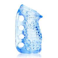 Мастурбатор Fleshlight Fleshskins Grip Blue Ice, надежная фиксация на руке, отлично для пар и минета, фото 1