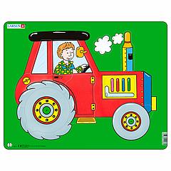 Пазл Larsen рамка-вкладыш Трактор серия Макси (NM3)