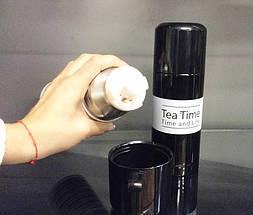 Термос TEA TIME 350 мл (Чорний з білою смугою) (md0018), фото 3