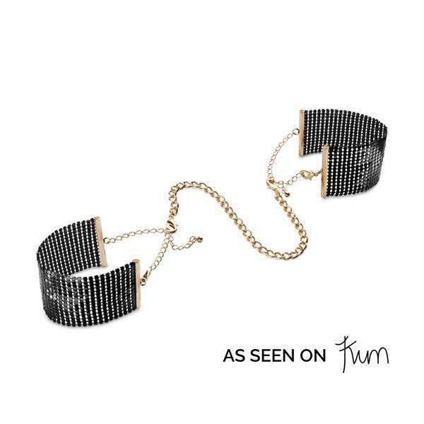 Наручники Bijoux Indiscrets Desir Metallique Handcuffs - Black, металлические, стильные браслеты