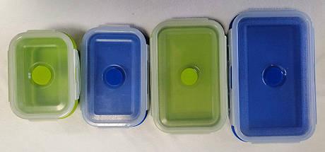 Набор силиконовых ланчбоксов складных (4 штуки) (md14157), фото 3
