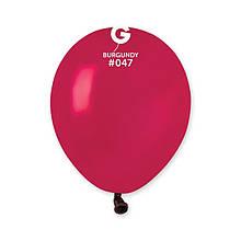 """Латексный шар пастель бордовый 5 """"/ 047 / 13см Burgundy"""