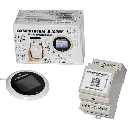 Беспроводной недельный программатор COMPUTHERM B400 RF Wi-Fi, фото 2