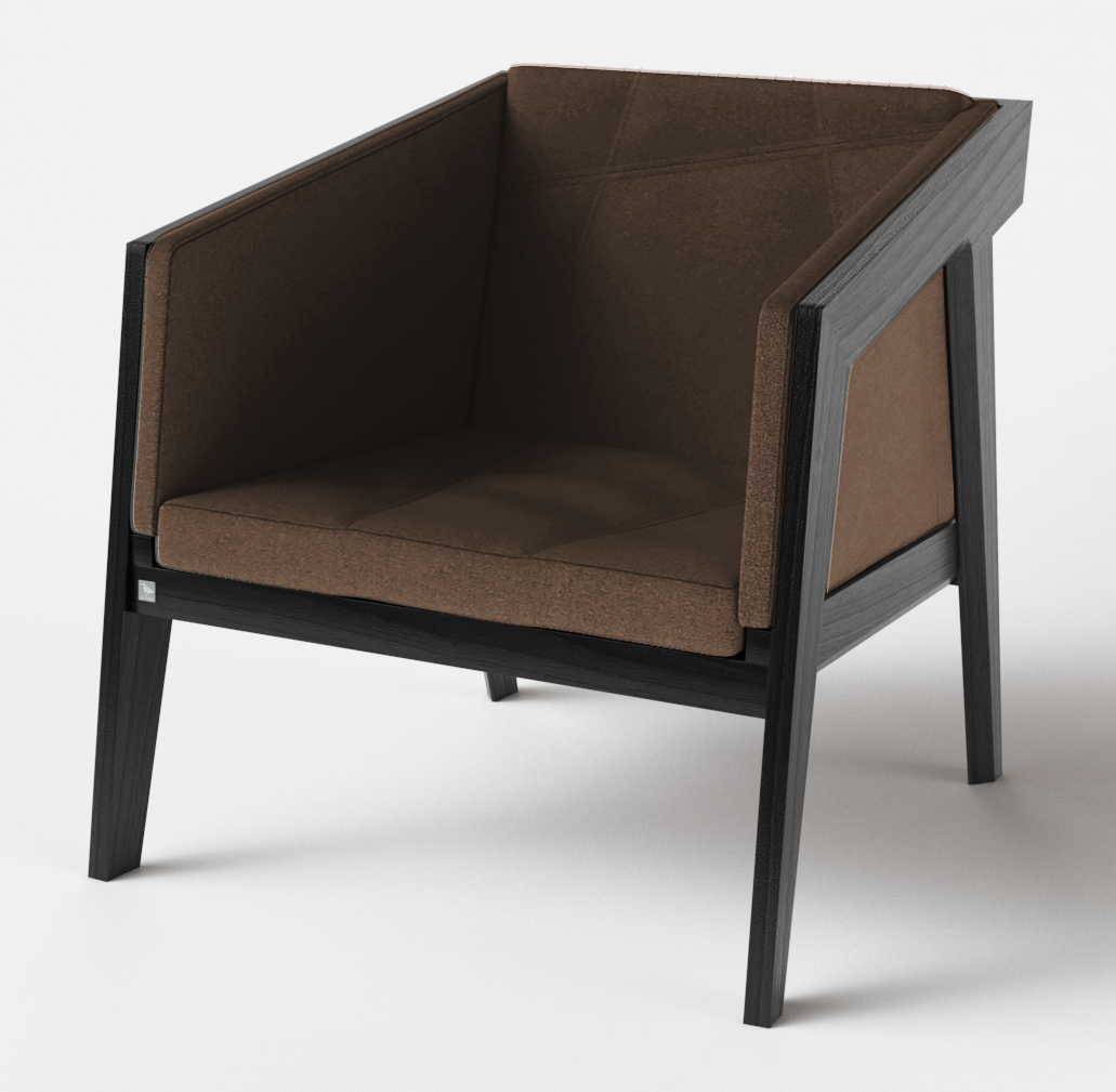 Кресло Air 2 Armchair 4 soft black TM Kint