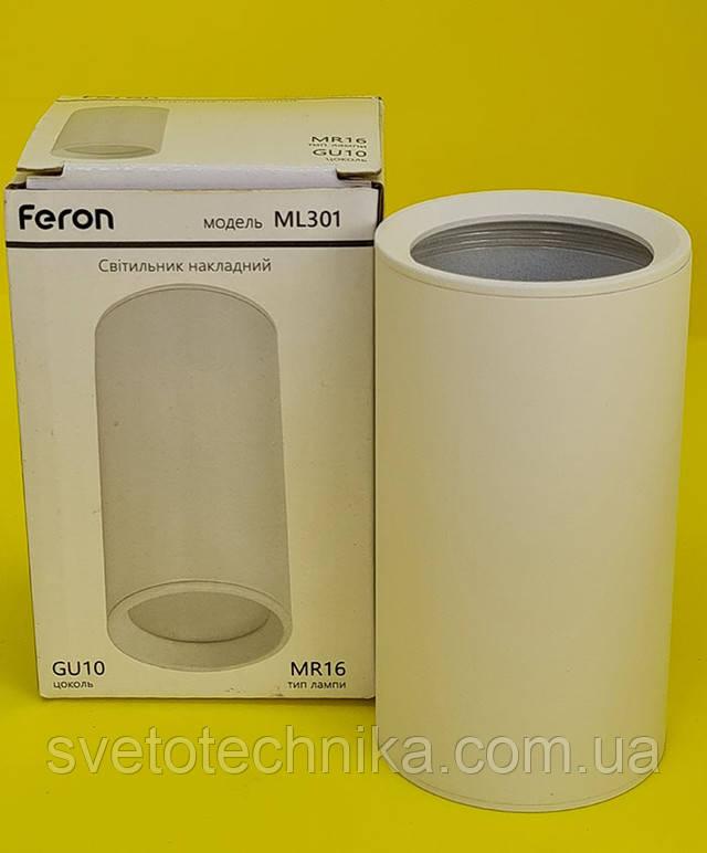 Потолочный светильник Feron ML301 GU10 белый цилиндр точечный