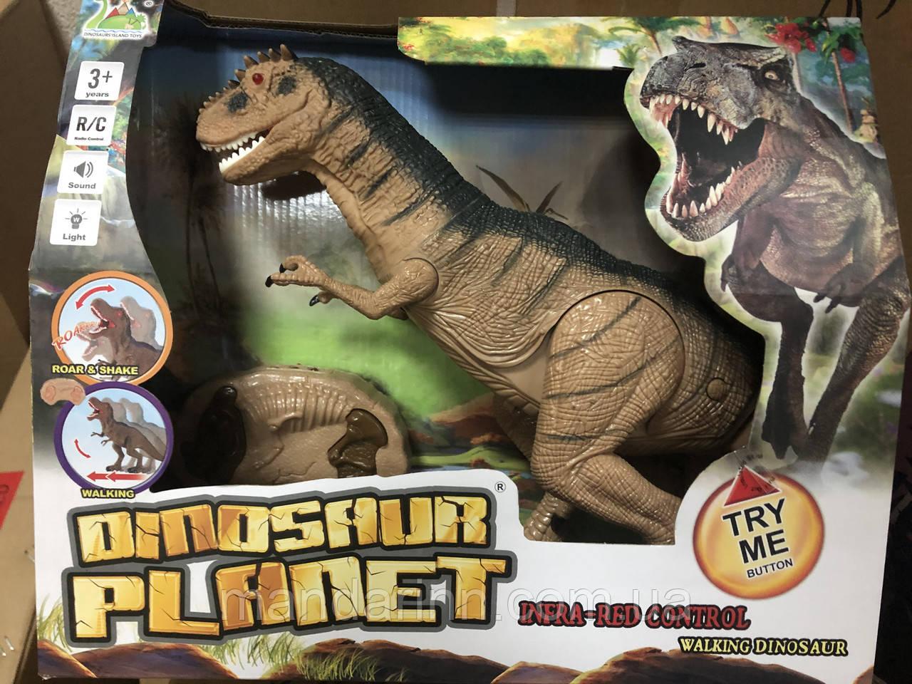 Динозавр на радиоуправлении RS6121A. Ходит. Крутит головой. Свет, Звук. Размер 30см на 52см