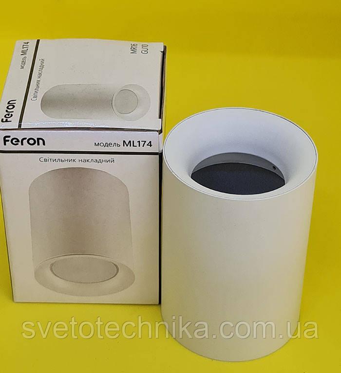 Потолочный светильник Feron ML174 GU10 белый цилиндр точечный