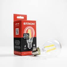 Лампа ETRON  10W  E27   прозрачное стекло