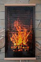 Электрический настенный обогреватель-картина Камин, с доставкой по Украине Трио 00103