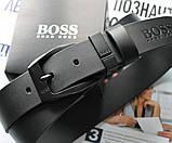 Мужской кожаный ремень Hugo Boss 21879 черный, фото 2