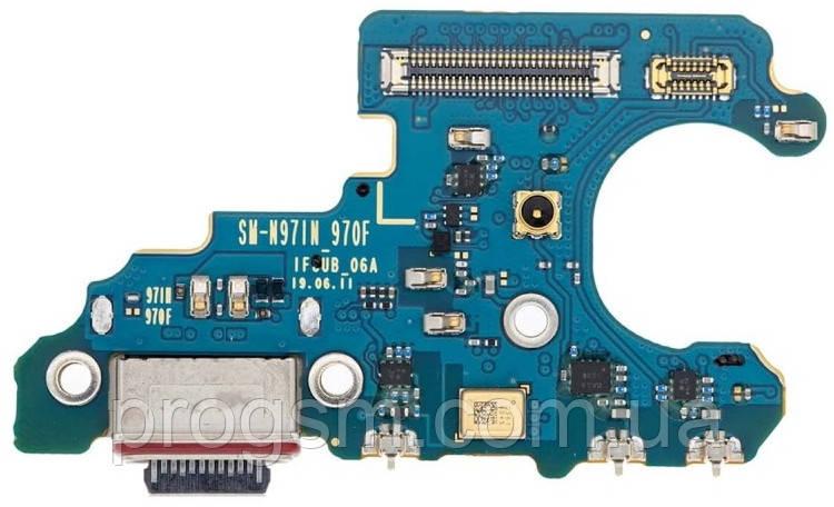 Разъем зарядки Samsung Galaxy Note 10 SM-N970 (с платкой) Original