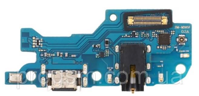 Разъем зарядки Samsung Galaxy M30 SM-M305F (с платкой) Original