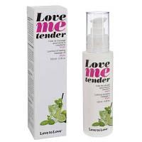 Массажное масло Love To Love LOVE ME TENDER Mojito (100 мл) натуральное без консервантов