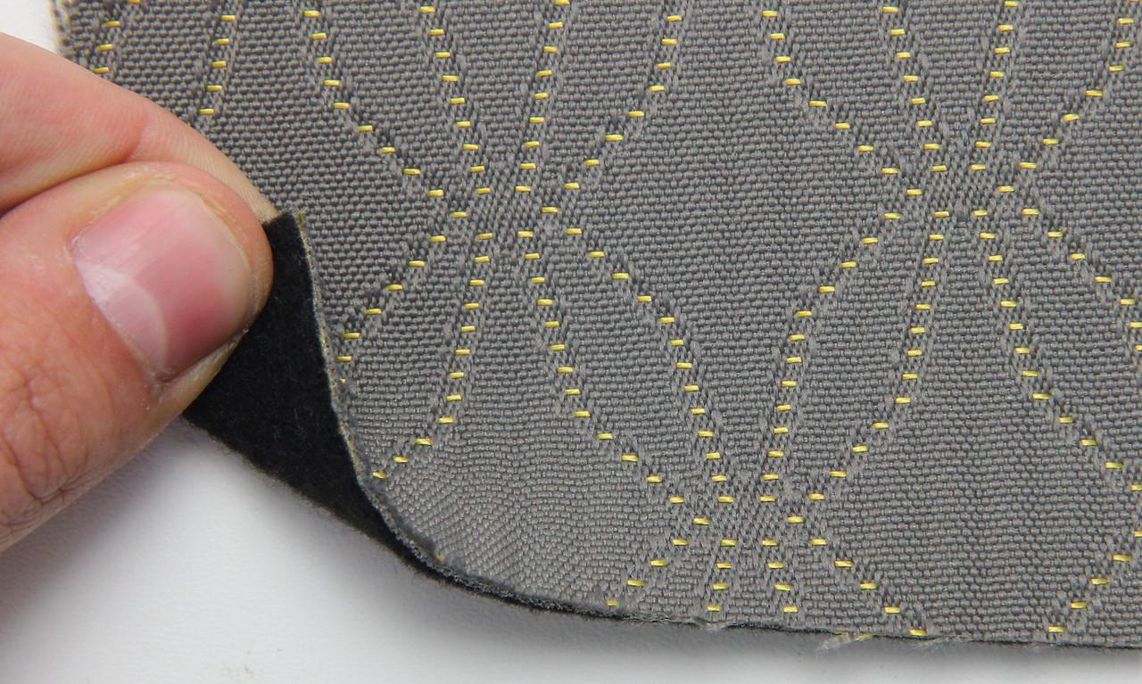 Автоткань оригинальная для центра сидений (серый 7505/3), основа на войлоке, толщина 3мм, шир 140см