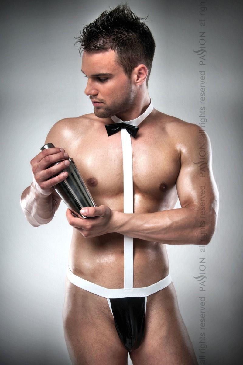 Мужской эротический костюм официанта Passion 021 BODY S/M: очень откровенное боди