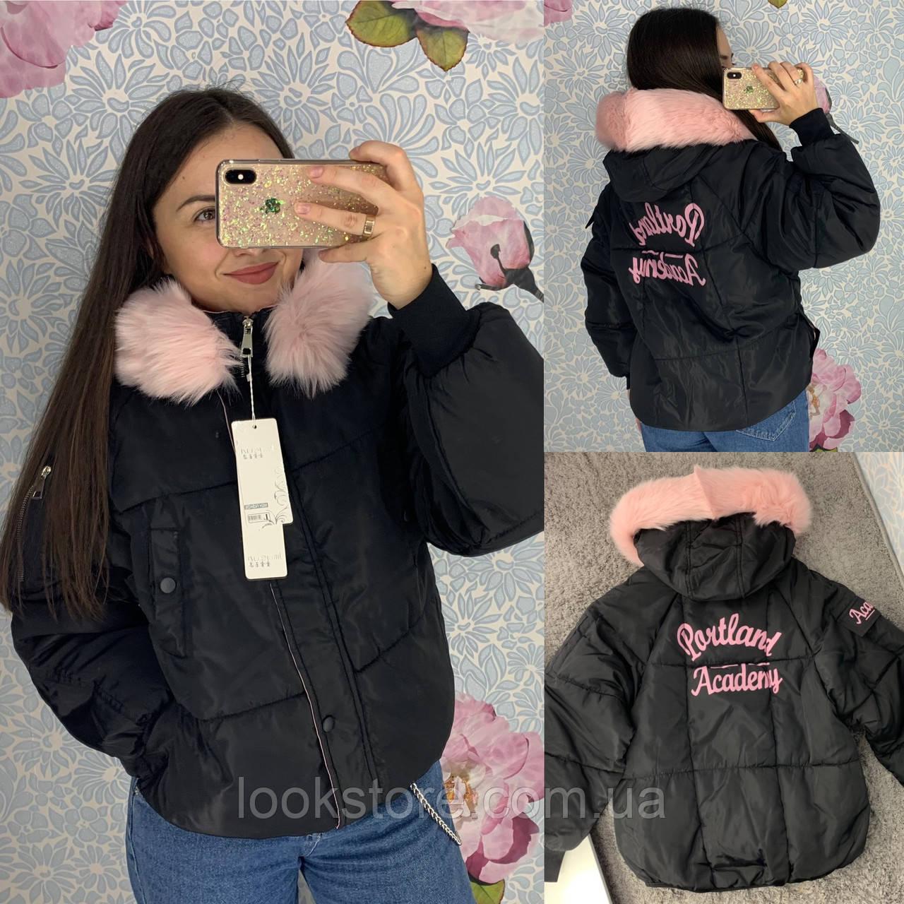 Жіноча коротка куртка парку Portland Academy чорна