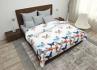 Двуспальный комплект постельного белья 180х220 Ранфорс_хлопок 100% (16062)