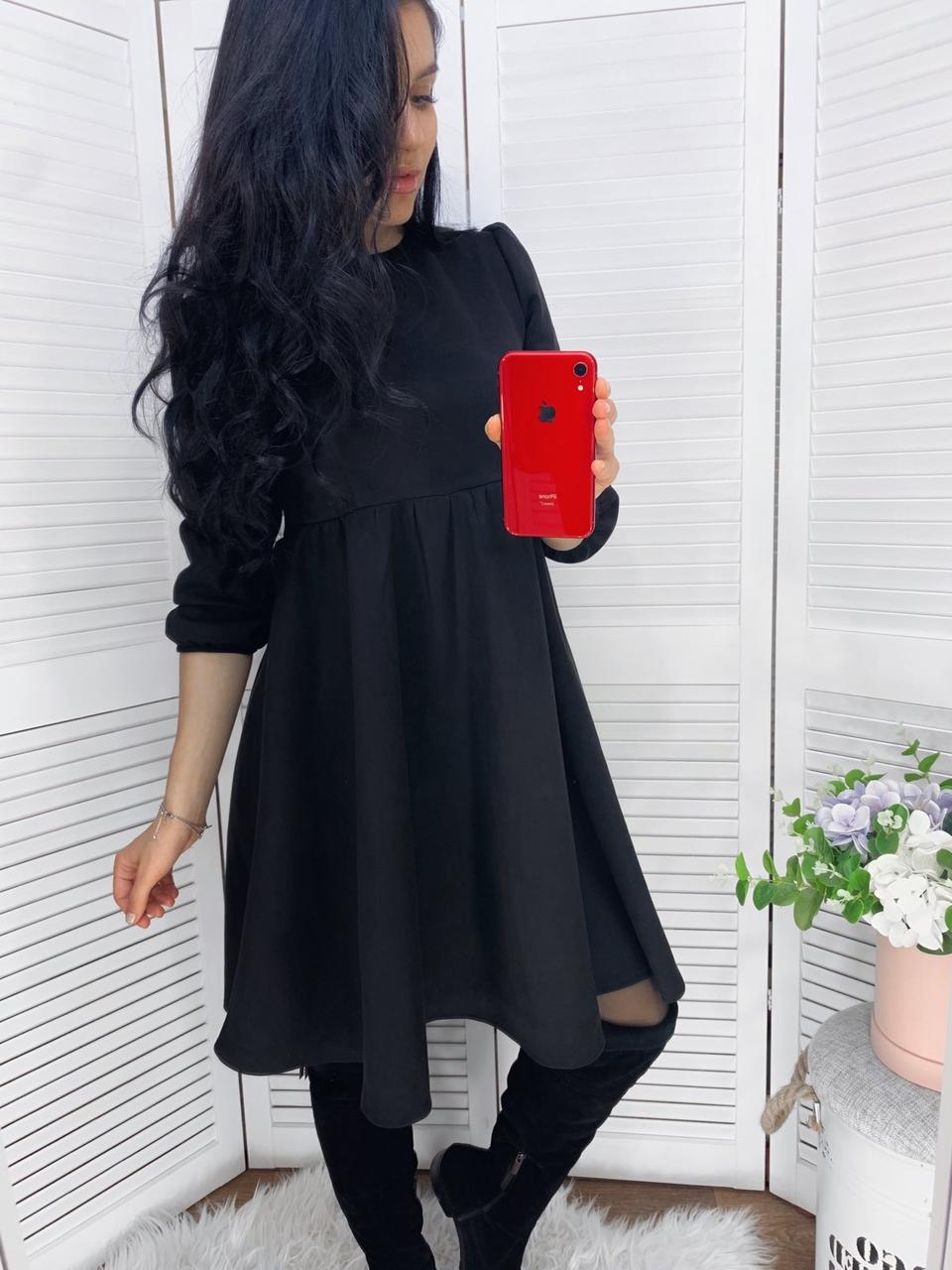 Женское платье свободного кроя Черный