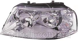 Фара левая хром электро Н7+Н1 для VW SHARAN 2001-10