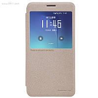 Чехол Nillkin Sparkle Leather Case для Samsung Galaxy Note 5 (N920) Shampaign Gold