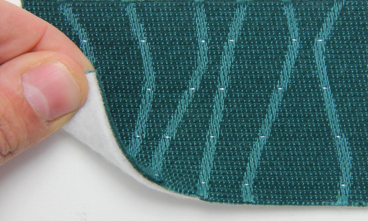 Автоткань оригінальна для центру сидінь (зелений 7602/2), основа на повсті, товщина 3мм, шириною 140см