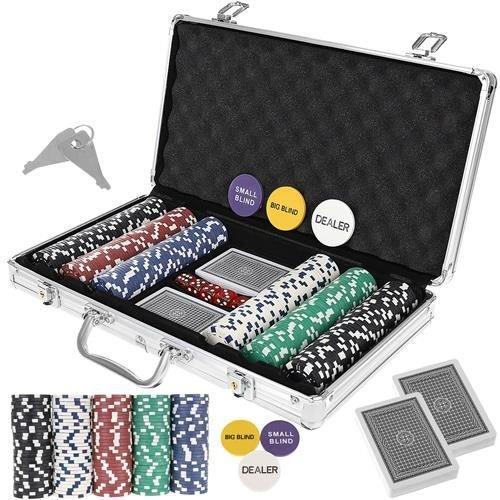 Гра Покер - професійний покерний набір з 300 жетонів у валізі HQ Poker Игра 300 жетонов