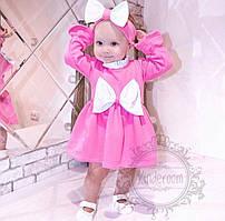 Платье и повязка,ткань футер с начёсом, для ваших конфеток, на рост от 86 до 122 см