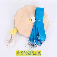 Тарзанка качеля детская спортивная из дерева подвесная «ПРЕМИУМ», гимнастическая, для улицы, фото 1