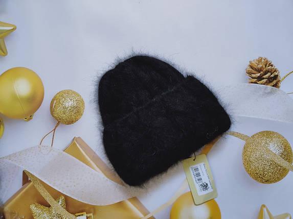 Шапка из ангоры Мадлен ODYSSEY 44515 бургунди, фото 2