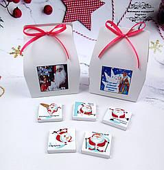 Мини-шоколадный подарочный новогодний набор с Новым годом 25 грам. Подарки на новогодние праздники