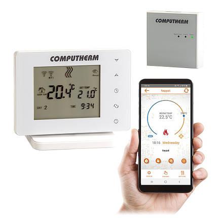 Беспроводной сенсорный Wi-Fi терморегулятор COMPUTHERM E400RF, фото 2