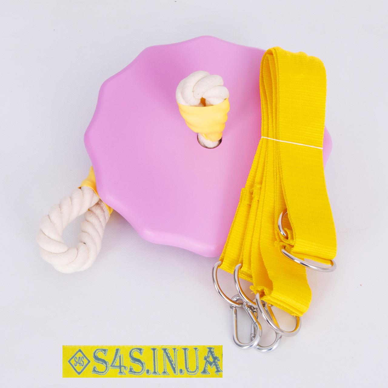 Тарзанка качеля детская спортивная из дерева подвесная «ЭЛИТ», гимнастическая, для улицы, роза