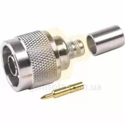 Коннектор Разъем N-male для кабеля RG8 обжим