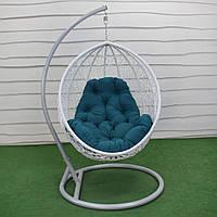 Подвесное кресло кокон GreenGard Николь Белое