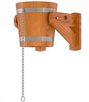 Ведро-водопад из лиственницы d=0,31 h=0,31 Bentwood объём 12 литров для бани и сауны
