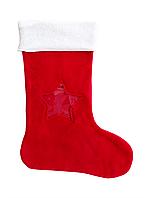 Новогодний мешок для конфет и подарков «Новогодний носок» с прозрачной звездой.