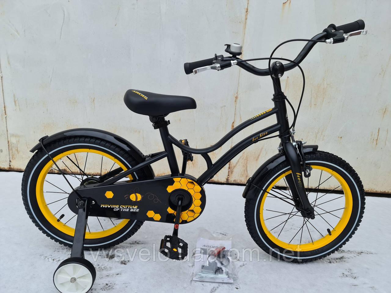 Велосипед детский для мальчиков ardis st 16 beehive чёрный