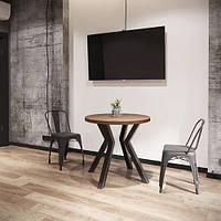 Стол Свен 4 ноги круглый 800 серия Loft ТМ Металл-Дизайн, фото 1