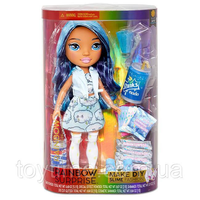Набор Rainbow Surprise Rainbow High голубая кукла со слаймом / Rainbow Surprise Rainbow High - Blue Skye