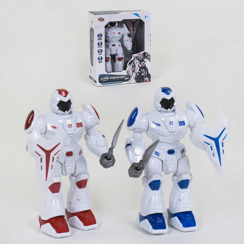 """Робот """"Робовоин Страж"""" 9891 (24) звуковые эффекты, подсветка, движение вперед, 2 цвета, в коробке"""