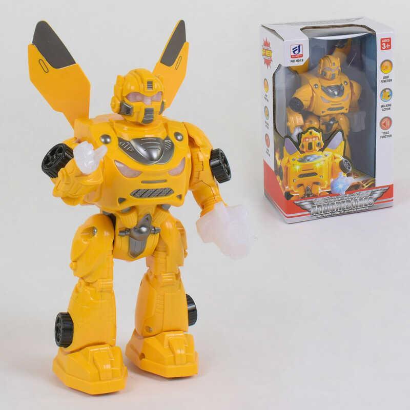Робот 6019 (36/2) на батарейках, звук, свет, ходит, в коробке