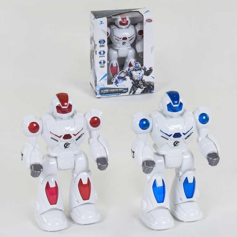 Робот 9890 (48) Play Smart, 2 вида, ходит, подсветка, звук, в коробке