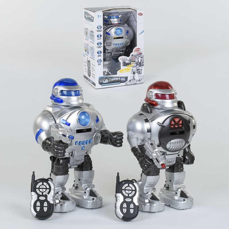 Робот 9895 (18) пульт д/у, световые и звуковые эффекты, стреляет мягкими патронами, в коробке