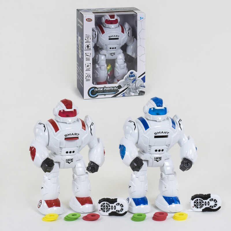 Робот на радиоуправлении 9892 (12) Play Smart, 2 вида, стреляет, ходит, подсветка, танцует, в коробке