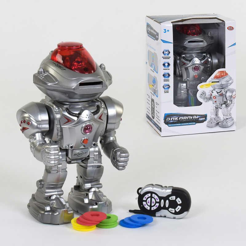 Робот на радиоуправлении 9896 (18) Play Smart, стреляет, ходит, танцует, подсветка, в коробке