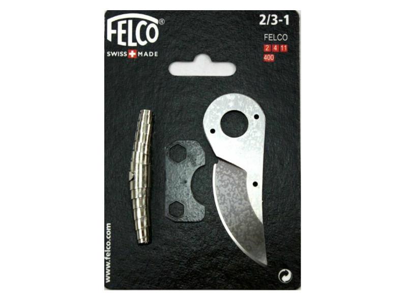 Набір змінних деталей 2/3-1 до Felco 2, Felco 4, Felco 11,  Felco 400 - лезо, пружина, регулювальний ключ