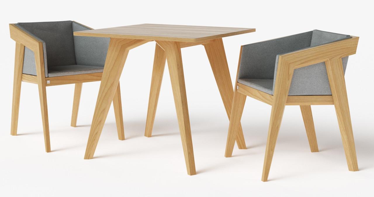 Стол обеденный Air 2 S 80*80 см натуральный TM Kint