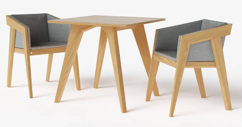 Стол обеденный Air 2 S 80*80 см натуральный TM Kint, фото 2