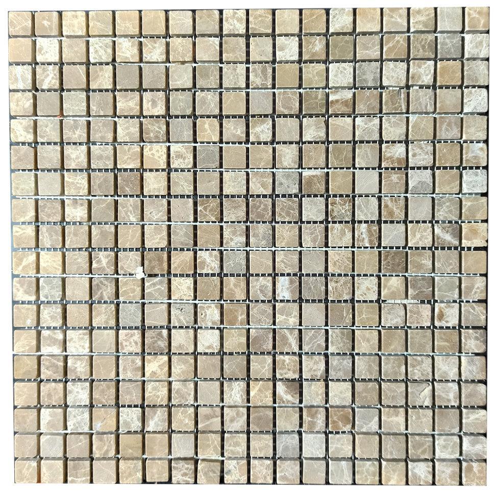 Мраморная мозаика Emperador Light D матовая МКР-4СВ (15x15)